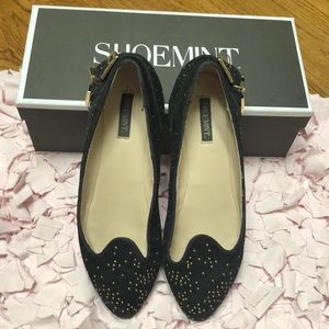 Shoemint Black Buckle Flats